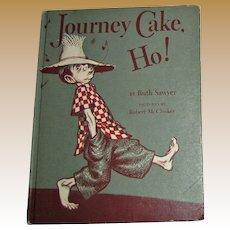"Vintage Children's Book ""Journey Cake Ho!"" 1953 Viking, Farm Animals"