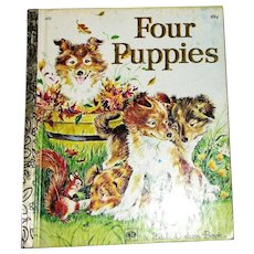 1960 Four Puppies by Anne Heathers, Little Golden Book
