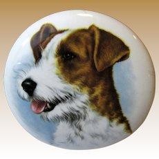 Crown Staffordshire Bone China Dog Portrait w/ Integral Stand