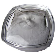 Reverse Etched Crystal Cat Trinket Box