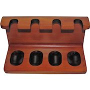 Modernist Tobacco 4 Pipe Rack, Possibly a Bentwood Stand