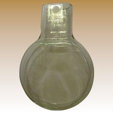 1970's Pyrex 320ml Flat Flask/Petri Dish, Science Classroom Lab, Like New, Rare!
