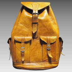 Large Natural Leather Hand Made Backpack, Sturdy, Stylish and Useful