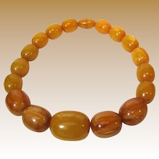 """20"""" Vintage Baltic Pressed Amber Necklace, MASSIVE Beads, 204 Grams!"""