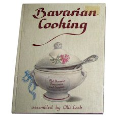 Bavarian Cooking by Olli Leeb, HC, 1992 5th Edition
