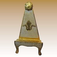Vintage Italian Florentine Gilt Wood Tole Small Picture Easel