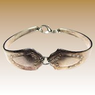 Attractive Silver Plated Spoon Bracelet in Two Sections