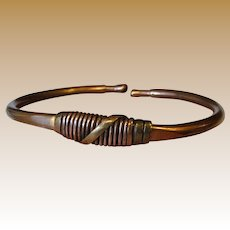 Hand Wrought Solid Copper Cuff Bracelet
