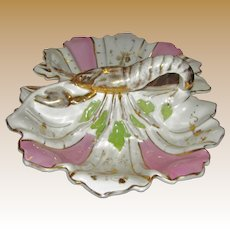 Large Victorian Porcelain Lobster Serving Bowl