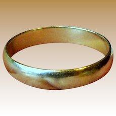 Classic 5 mm 10 K Yellow Gold Wedding Band, Sz 10