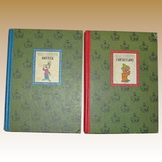 1965, Walt Disney's Fantasyland & America, HC Illustrated Children Stories