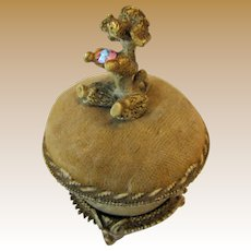 Florenza Pin Cushion Trinket Box w/ Poodle, Darling!