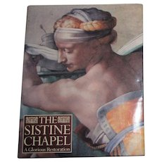 Sistine Chapel : A Glorious Restoration- Edited by Pierluigi De Vecchi, 1st English Edition HCDJ, Like New