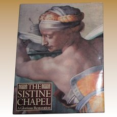 Sistine Chapel : A Glorious Restoration- Edited by Pierluigi De Vecchi, 1st English Edition HCDJ, Like New