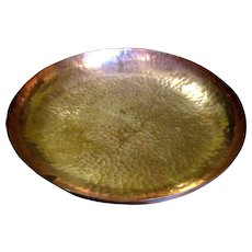 """Hand Hammered 12"""" Copper Serving Bowl w/ Wall Hanger"""