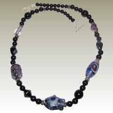 "Beautiful Art Glass Hand Made 20"" Necklace"