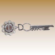 Harley Davidson Motorcycle Key Chain Fob, Gear Chain with Gallagher & Burton Bottle Opener, Steampunk