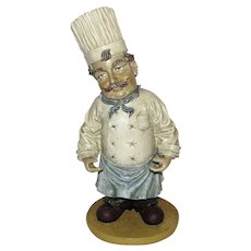 """Vintage Pizzeria Chef 16"""" Sculpture"""