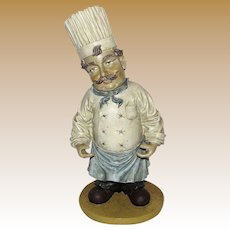 "Vintage Pizzeria Chef 16"" Sculpture"