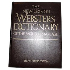 The New Lexicon Websters Dictionary of the English Language, Encyclopedic Edition, Padded Faux Leather, Like New