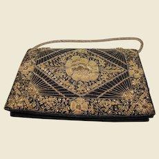 Vintage Bullion Embroidered Clutch Handbag