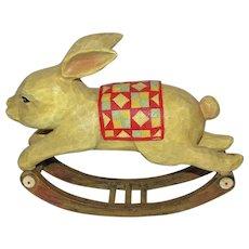"Cute Easter 11"" Rocking Rabbit"