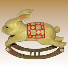 "Cute Easter 11"" Rocking Rabbit"