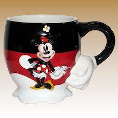 Vintage Walt Disney Minnie Mouse Mug, 3D!