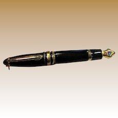 Fun Pen Design Enamel & Rhinestone Pin