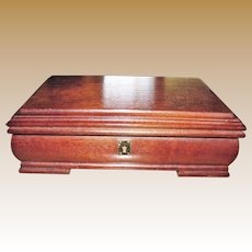 Elegant Neoclassical Hardwood Jewelry Box
