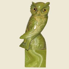"""Vintage Norleans Owl on Pedestal, Hand Made in Italy, Height is 10"""", Mint"""