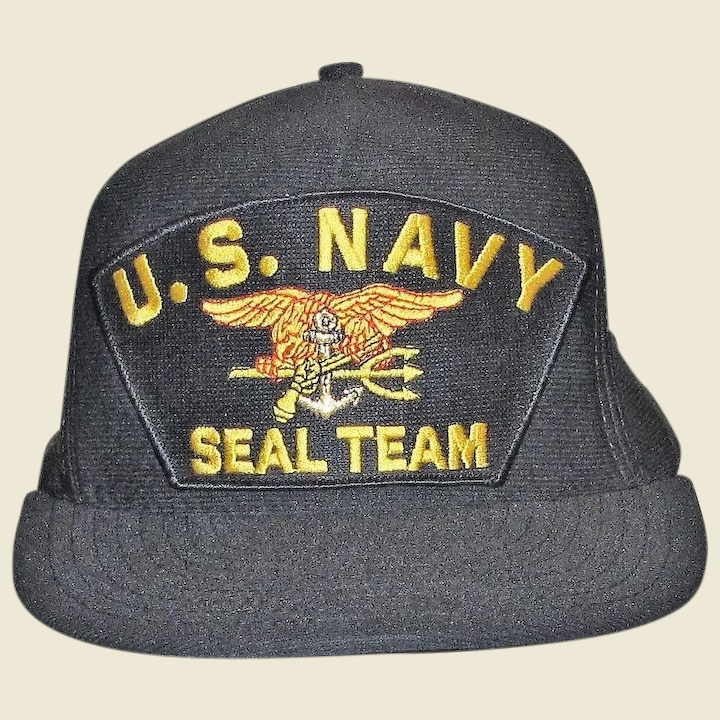 9854f551 US Navy SEAL Team Ball Cap, Trident, Eagle Crest, Adjustable, Made in : Fay  Wray Antiques | Ruby Lane