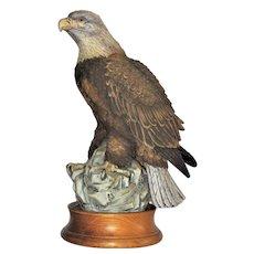 "Vintage Andrea Bald Eagle Figurine by the Late Norman Sadek, 11"", Mint"
