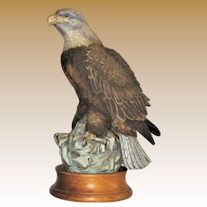 "Vintage Andrea Bald Eagle Figurine by the Late Norman Sadek, 11"", Mint"