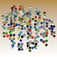 Vintage Collection of 179 Marbles, Mixed Types