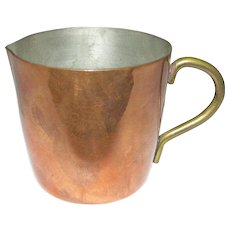 Small Solid Copper Pitcher by La Belle Cuisine