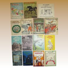 Fifteen 1950's to 1970's Children's Books. All Hard Cover