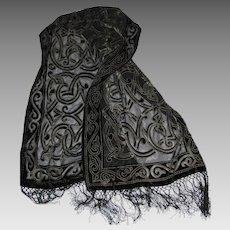 """66"""" Cut Silk Celtic Design Shawl"""