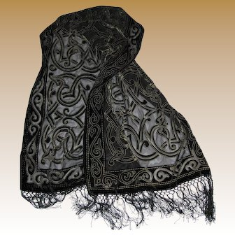 "66"" Cut Silk Celtic Design Shawl"
