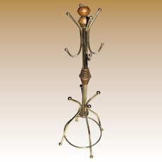 "Vintage 12"" Gilt Metal Coat Stand for Dolls"
