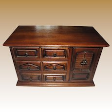 Well Fitted Dark Wood Retro Jewelry Box by Himark Japan