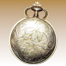 Vintage Gold Tone Caravelle Pocket Watch Swiss Made, Windup