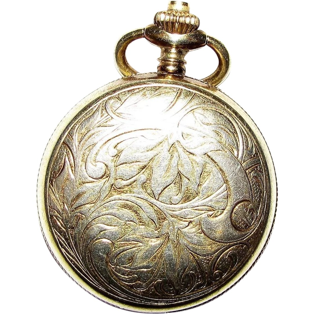 British Art Nouveau Lady's Pocket Watch Stand Enamel Silver 1899 Antique Antique Other Antique Sterling Silver