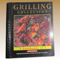 Grilling Collection: 3 Cookbooks in 1 by Publications International (Spiral), Like New