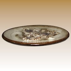 "Icelandic Mid Century Modern Lava Ceramic 6"" Dish by Glit Pottery"