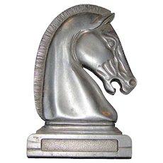 Aluminum Horse Head Hood Ornament for Car or Truck, Mid-Century