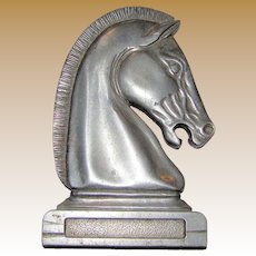 Aluminum Horse Head Hood Ornament for Car or Truck, Mid-Century
