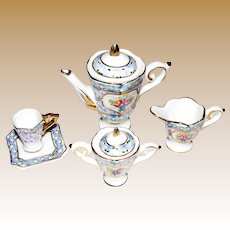 Darling 7 Piece Hand Painted Doll Tea Set