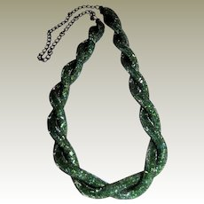 """Sophisticated Snake Scale 30"""" Necklace"""