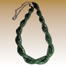 "Sophisticated Snake Scale 30"" Necklace"